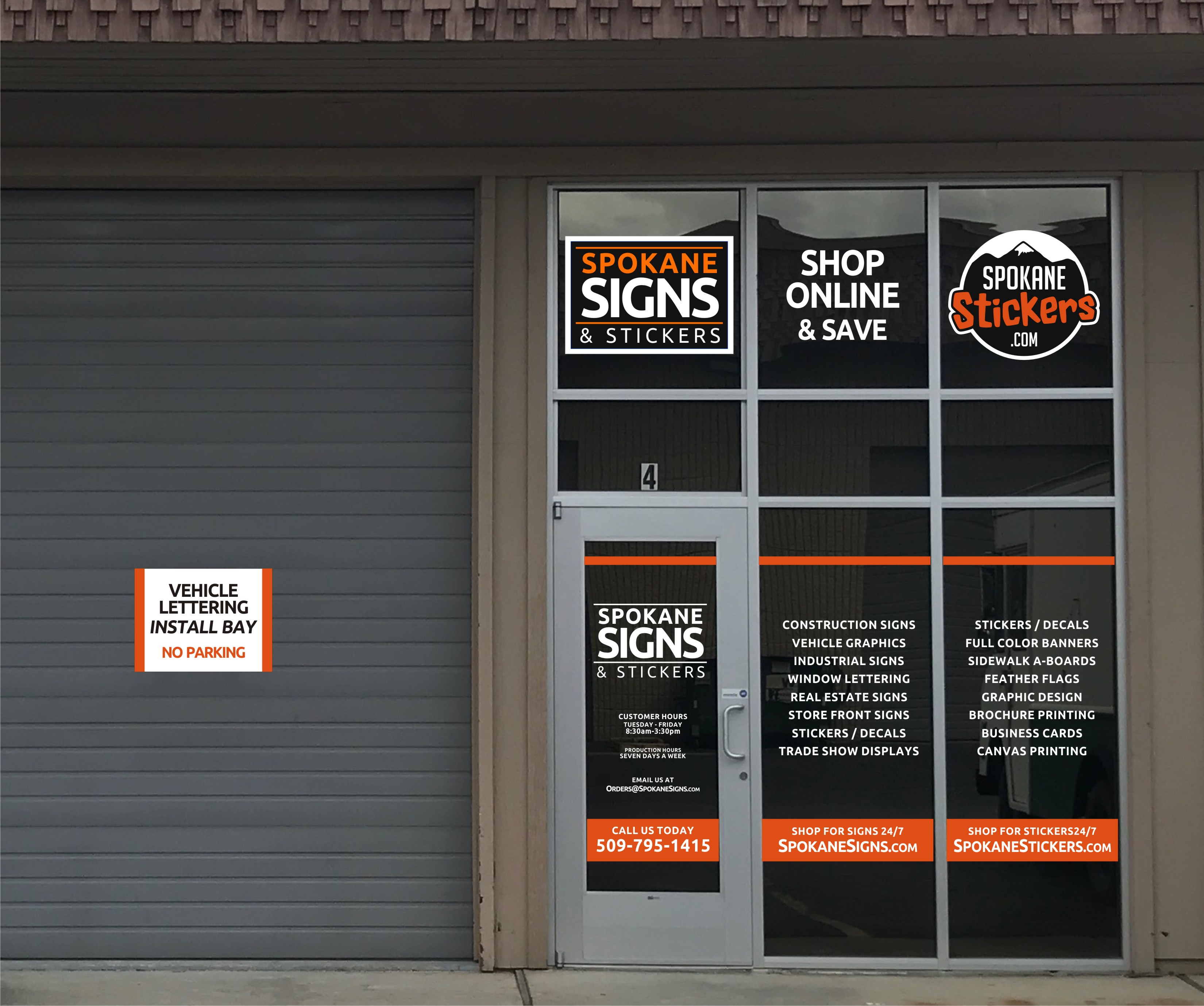 spokane signs & stickers retail storefront location