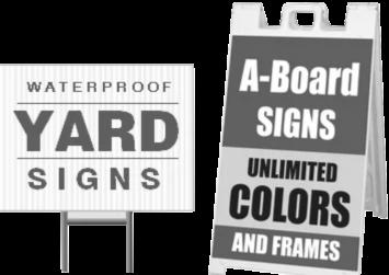 custom corrugated plastic signs